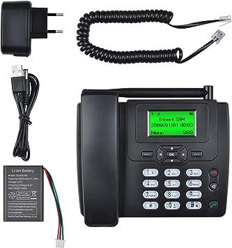 Lychee Tarjeta SIM gsm Teléfono Fijo Pare tu Empresa o Familia,Multifuncional(Identificación de Llamadas, Manos Libres,Pantalla retroiluminada,Radio, Despertador),Negro: Amazon.es: Electrónica