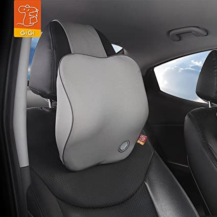 3D Car Seat Headrest Neck Rest Cushion,for Car Seat Memory Foam Soft Breathable Seat Headrest Pad Beige Neck Rest Headrest Accessories(Standard)