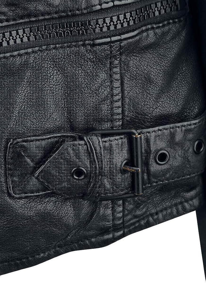 Gipsy Highway 2 Slim Fit LAGIV Men Leather Jacket Black, Slim Fit Black