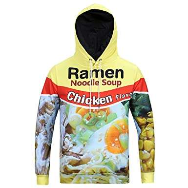 3d Ramen Noodle Printed Hooded Sweatshirts Harajuku Man Assassins
