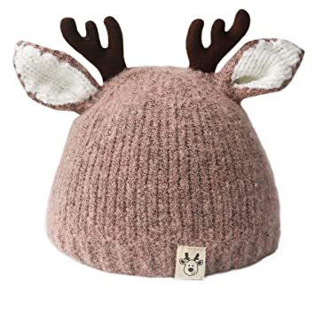 4cd07e0ab6c00 Image Unavailable. Image not available for. Color  Baby Boys Girls Hats   Caps Cute Christmas Costume Toddler Kids Children Deer Hat(3-