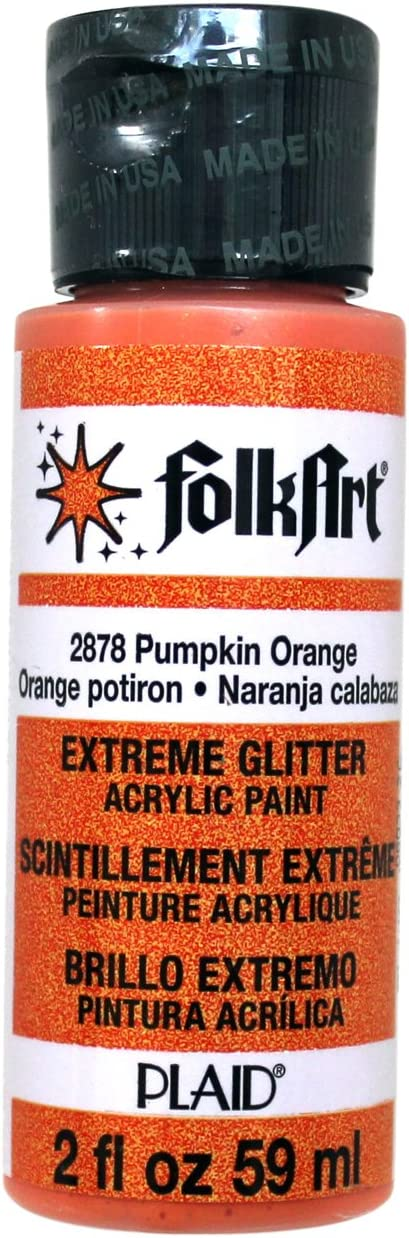 FolkArt Acrylic Paint in Assorted Colors (2 oz), 2878, Pumpkin Orange