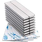 Powerful Neodymium Bar Magnets, Rare-Earth Metal Neodymium Magnet - 60 x 10 x 3 mm, Pack of 16