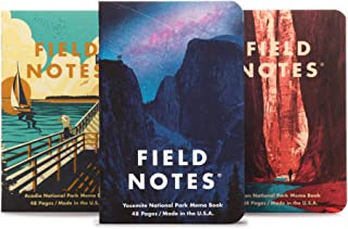 product image for Field Notes: National Parks Series (Series A - Yosemite, Acadia, Zion) - Graph Paper Memo Book 3-Pack - 3.5 x 5.5 Inch