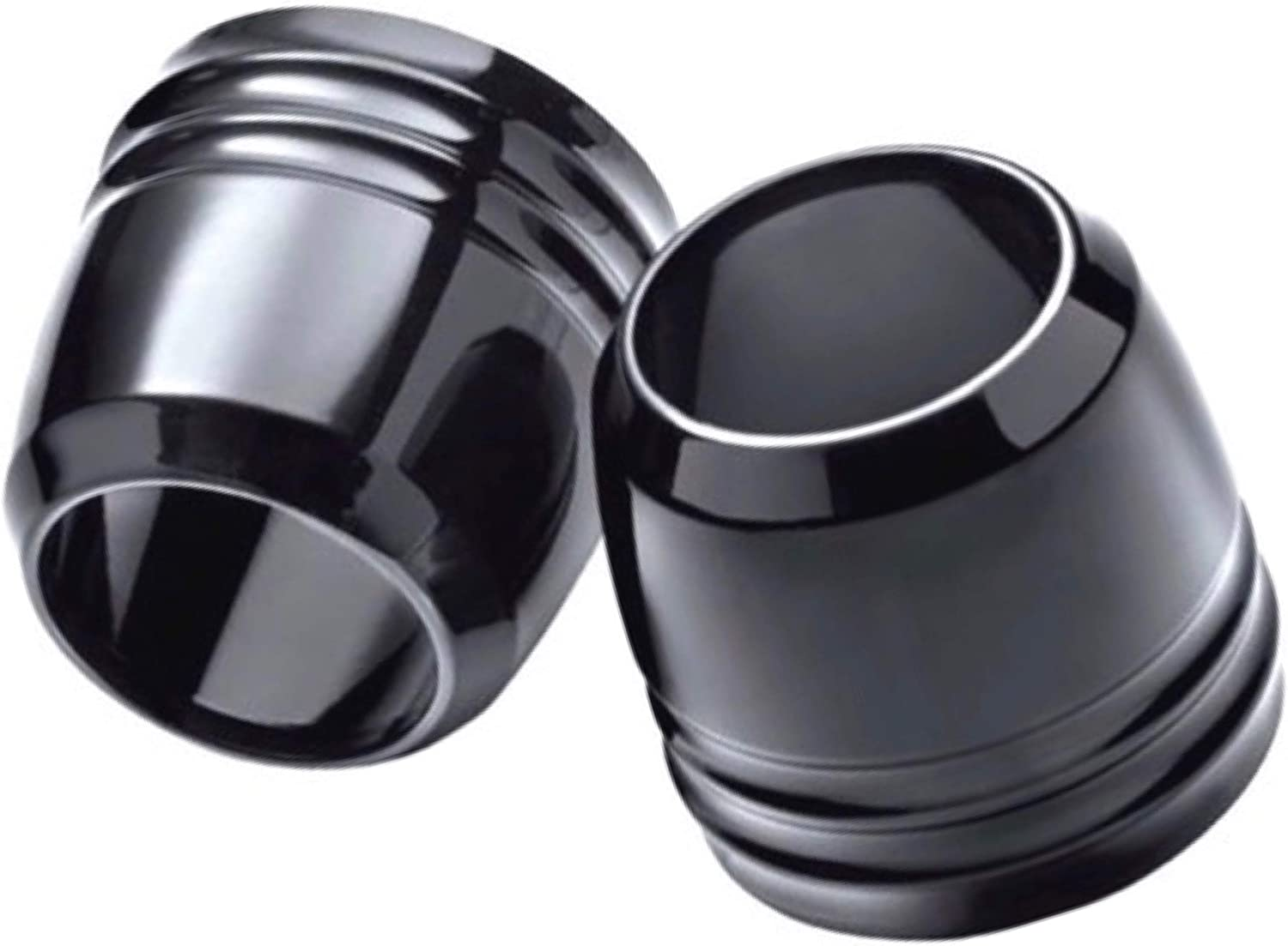 Gloss Black Billet Front Forks Boot Fork Slider Dust Covers Fit Harley Davidson Dyna like Street Fat Bob Wide Glide Low Rider S Super Custom Years 2006-2017 ref 45800014 Boots Cap Caps Cover Sliders
