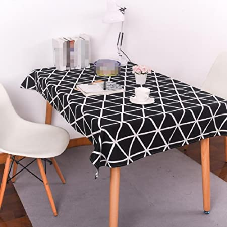 ZN Black White Geometric Tablecloth Simple Modern Home Life Hotel