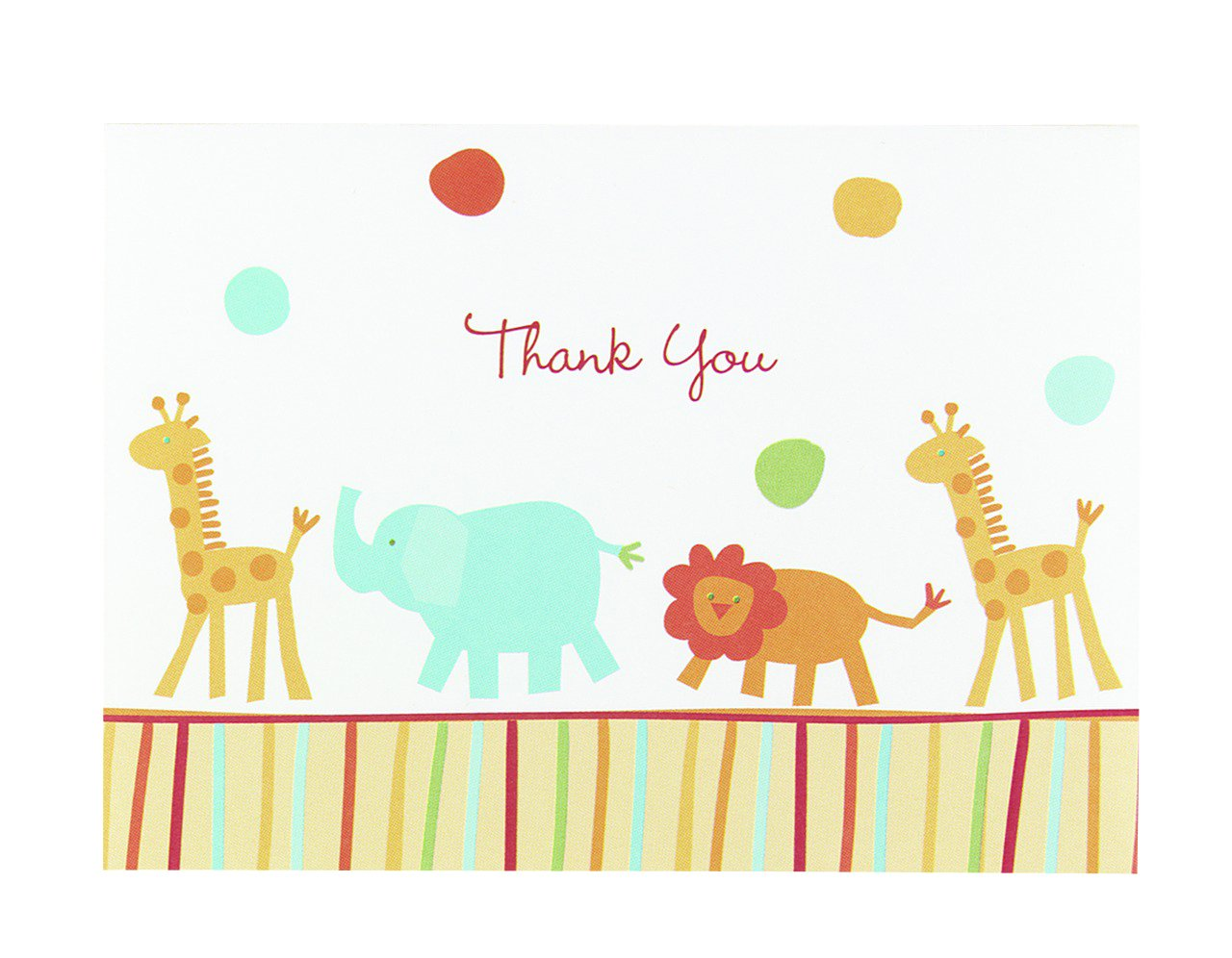 Relatively Amazon.com: Hortense B. Hewitt Jungle Animals Thank You Cards, Set  IY72