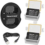 Newmowa NP-FZ100 Battery (2-Pack) and Dual USB Charger for Sony NP-FZ100, BC-QZ1Sony A7RIII A7R3, Sony a7 III,Sony Alpha 9,Sony Alpha 9R,Sony Alpha 9S Digital Camera
