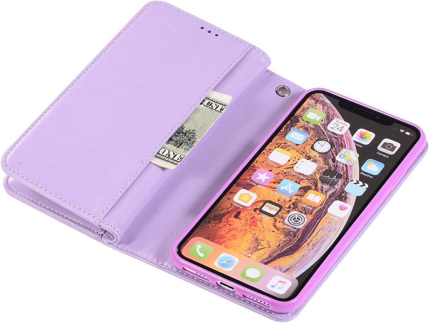 Ysimee kompatibel mit Huawei Mate 20 Lite//Maimang 7 H/ülle Glitzer PU Leder Handyh/ülle 1 X Stylus Pen Lila Rei/ßverschluss Magnetverschluss Kartenslots St/änder Weich TPU Schutzh/ülle