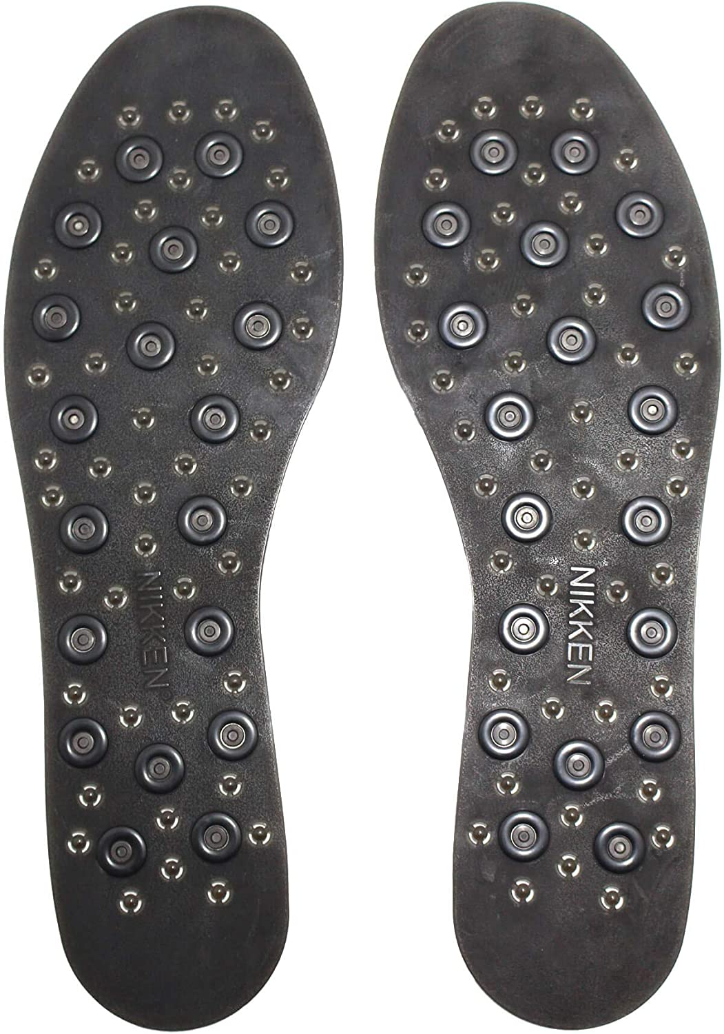 Nikken 1 mSteps Insoles with Acupressure Massage Nodes, 20214, Men Shoe Sizes 7 to 12, Pair, Cut to Fit, Magnetic Therapy, Improve Blood Circulation, Kenko