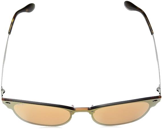ef63ed6132 Ray-Ban Kids 'acero unisex no polarizado anteojos de sol cuadrados de iridio,  cepillado, azul, 47Â mm: Amazon.com.mx: Ropa, Zapatos y Accesorios
