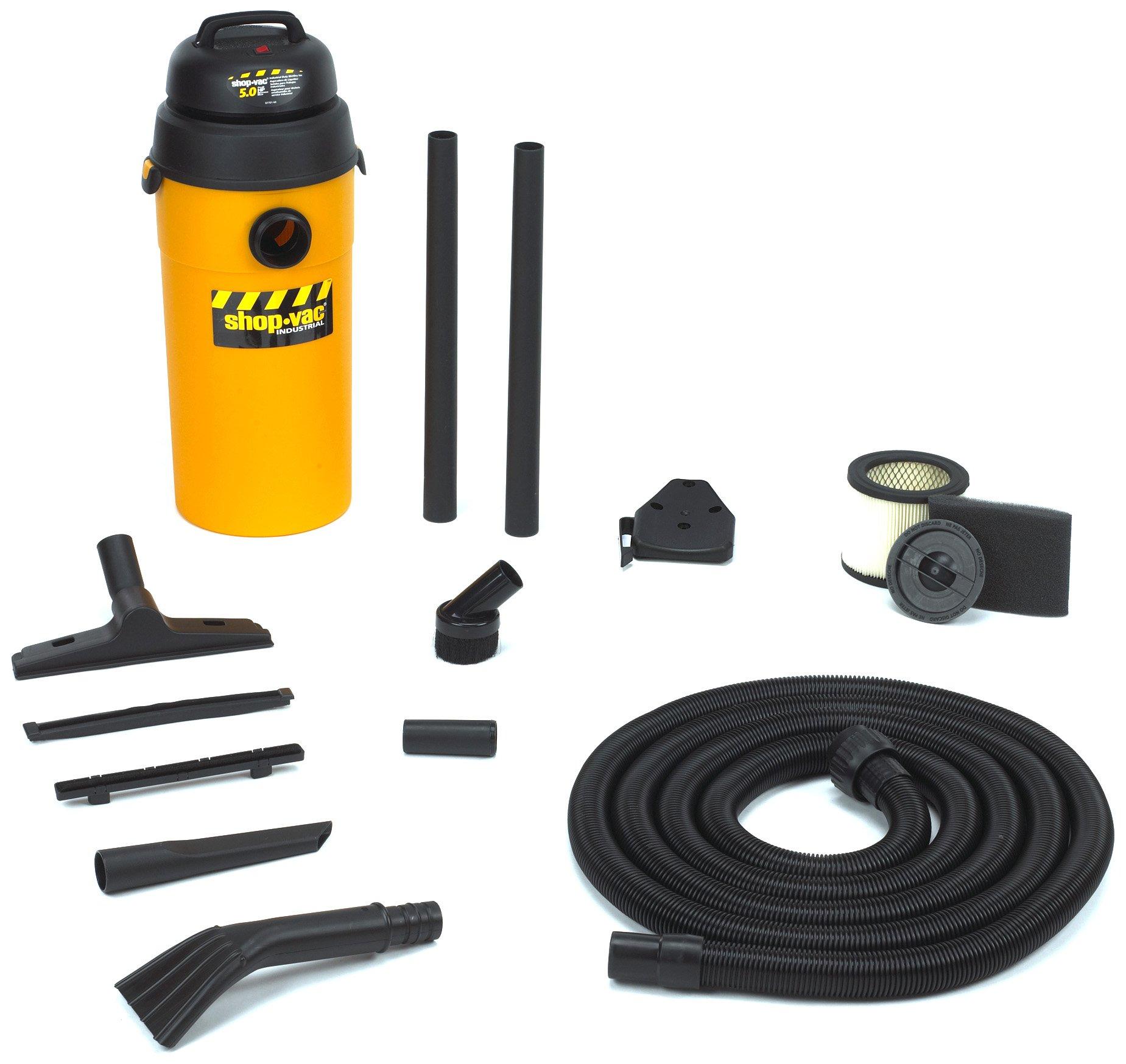 Shop-Vac 9520210 5.0 Peak Horsepower HangUp Wet/Dry Vacuum, 5-Gallon