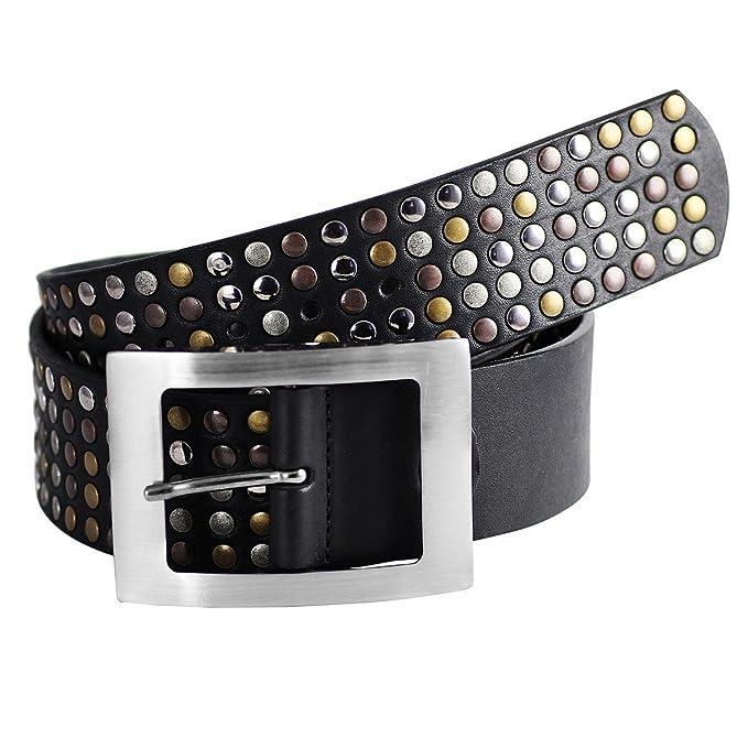 LINDENMANN- Cinturones de cuero mujer   tachas el arte de la única mujer de  cinturón ad88152ef8e3
