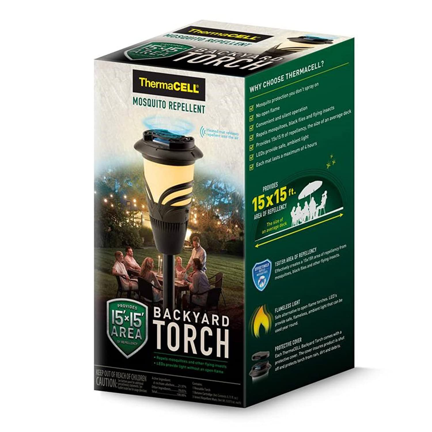 Amazon.com: Thermacell Repellents Inc Mosquito Repellent Backyard Torch:  Home U0026 Kitchen