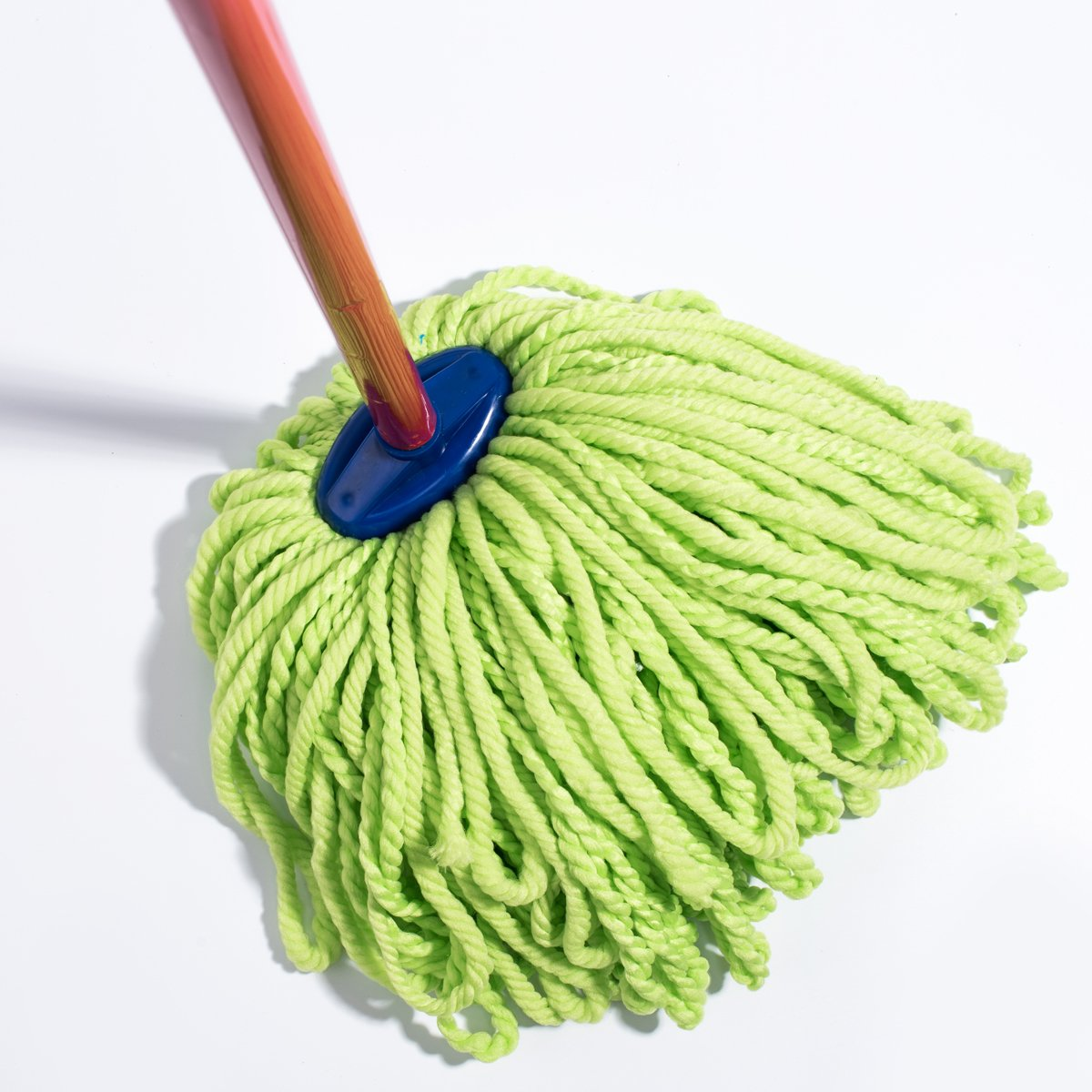 QIPENG 12'' Professional Microfiber Mop Head 4 Pack, Washable Wet and Dry Mop Heads, Super Absorbent Mop (Green) by QIPENG (Image #5)