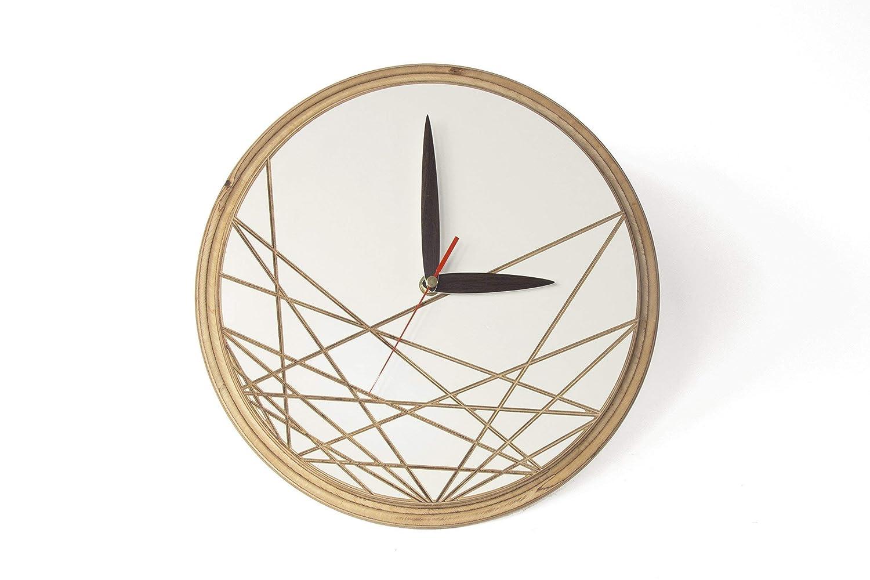 Amazon Com Wood Clock Modern 11 8x11 8x1 2 Inches Unique Wall Clock Modern Clock Wooden Modern Clock Wood Wall Clocks White Wall Clocks Wood Parents Anniversary Handmade
