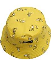 ODN Unisex Lovely Cute Funky Passion Fisherman Bucket Hat Outdoor Cap Printed Pattern Daily Sun Visor Protection Bucket Hats For Summer