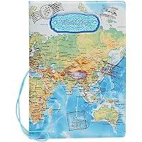 SYMALL Funda de Pasaporte con Estampado Mapa Internacional