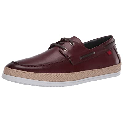 MARC JOSEPH NEW YORK Men's Leather Luxury Deck Shoe with Rope Detail Boat | Loafers & Slip-Ons