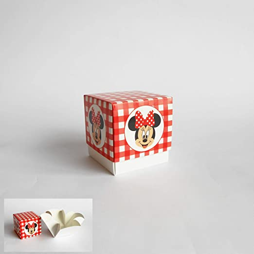 Detalle Caja cubo Confeti inserto Minnie Disney rojo set 20 piezas art 68024: Amazon.es: Hogar