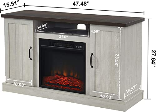 FLing Electric Fireplace TV Stand