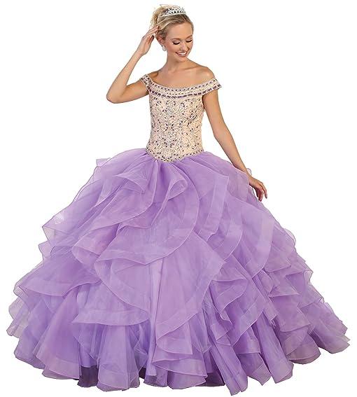 Layla K LK93 Quinceanera Ball Formal Dance Gown (Aqua, 4)