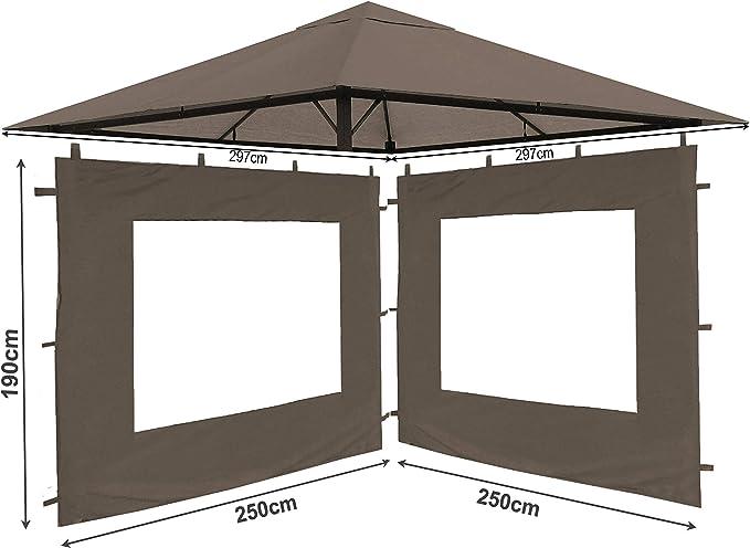 QUICK STAR Set Ersatzdach y 2 Seitenteile para jardín Pavillon ...