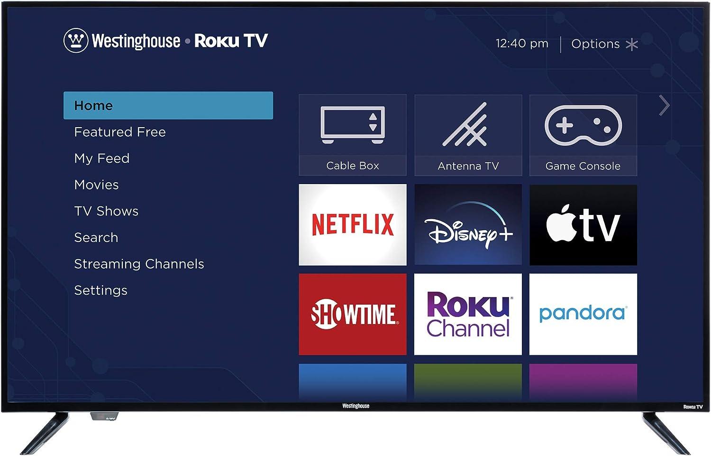 Westinghouse 50 4K Ultra HD Smart Roku TV with HDR10 Renewed