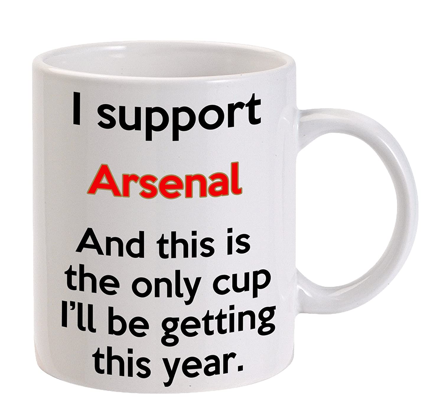 ARSENAL MUG - GREAT FUUNY GIFT FOR A SUPPORTER - 11 OZ SIZE - MACHINE WASHABLE Super Lemon
