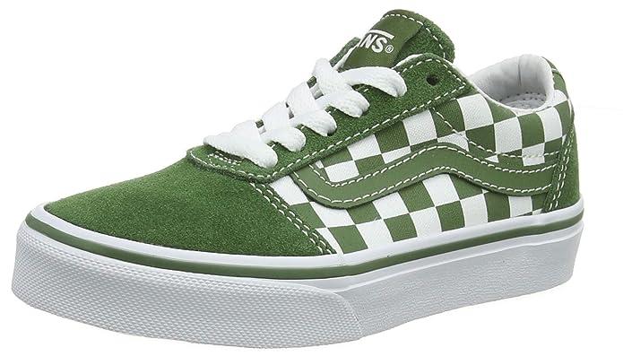 Vans Ward Sneakers Suede/Canvas Unisex-Kinder Grün Weiß Kariert (Garden Green)