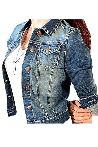 La Mujer Casual Botón Punk Short Denim Lavado Distressed BLAZER JACKET Outwear