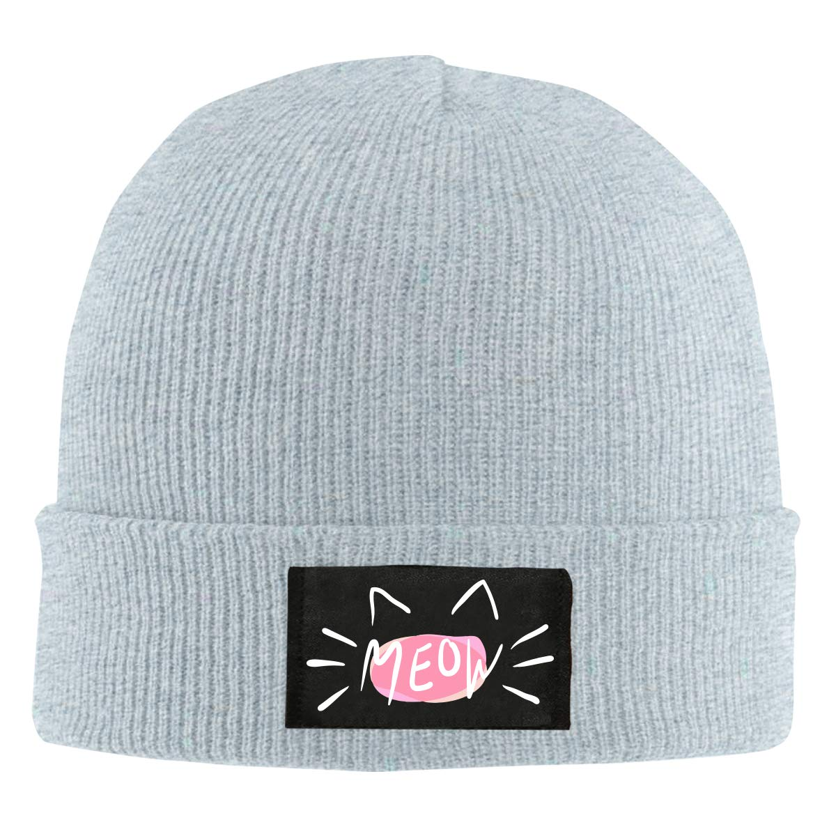 100/% Acrylic Comfortable Skiing Cap Mens and Womens Cat Meow-1 Knitting Hat