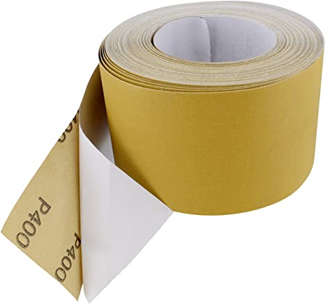 Abn Adhesive Sticky Back 80-Grit Sandpaper Roll 2-3//4in x 20 Yards Aluminum Oxid