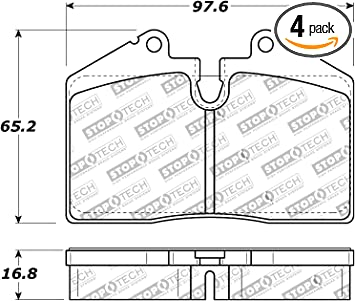 StopTech 308.09152 Street Brake Pad 4 Pack