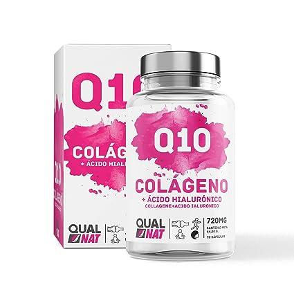Colageno + Ácido Hialurónico | Q10 | Vitamina C | Colágeno Marino | Suplemento Alimenticio Perfecto Para la Piel | 90 Cápsulas