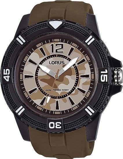Lorus Reloj Analogico para Hombre de Cuarzo con Correa en Silicona RRX47FX9: Amazon.es: Relojes