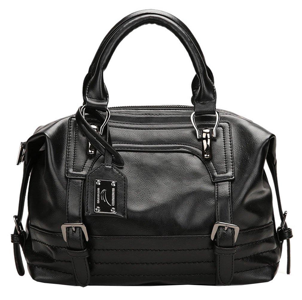 Juilletru Black Women Tote Bags PU Leather Handbags Top Handle Vintage Purse Crossbody Shoulder Bag by Juilletru (Image #1)