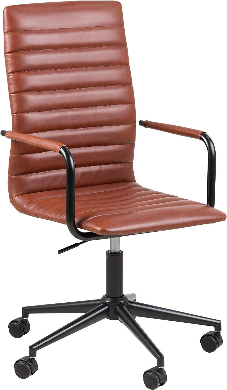 Amazon Brand - Movian Dubna - Silla de escritorio, 58 x 45 x 103 cm, marrón