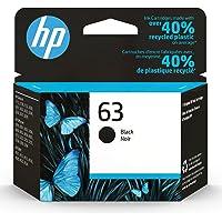 HP 63   Ink Cartridge   Black   Works with HP DeskJet 1112, 2100 Series, 3600 Series, HP ENVY 4500 Series, HP OfficeJet…