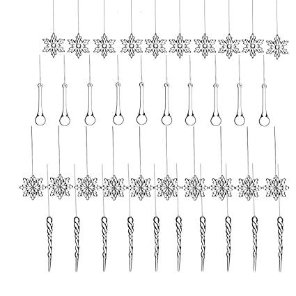 christmas icicle ornaments set 40 pcs clear acrylic icicles snowflake shatterproof for christmas tree party - Kinds Of Christmas Trees