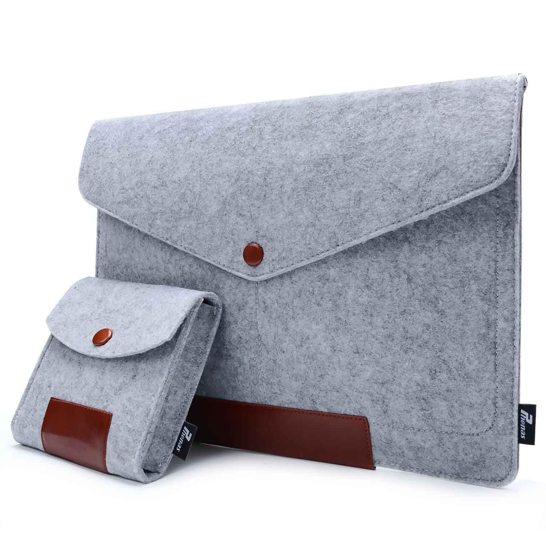 Black Friday Bargains! Phenas Felt 13.3 Inch Sleeve Cover Carrying Case Laptop Bag for Apple 13'' Macbook air/Pro retina (Grey)