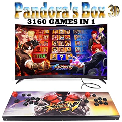 3D Home Arcade Game Console Pandora's Box | 3160 Retro HD Games | 2 Player Game Controls | Full HD 1280720 Video | Support Multiplayer Online | HDMI/VGA/USB/AUX Audio Output, ZQ-4181537: Sports & Outdoors