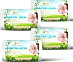 Naturally Natures Bamboo Diaper Liners 400 Sheets (4 Pack) Gentle and