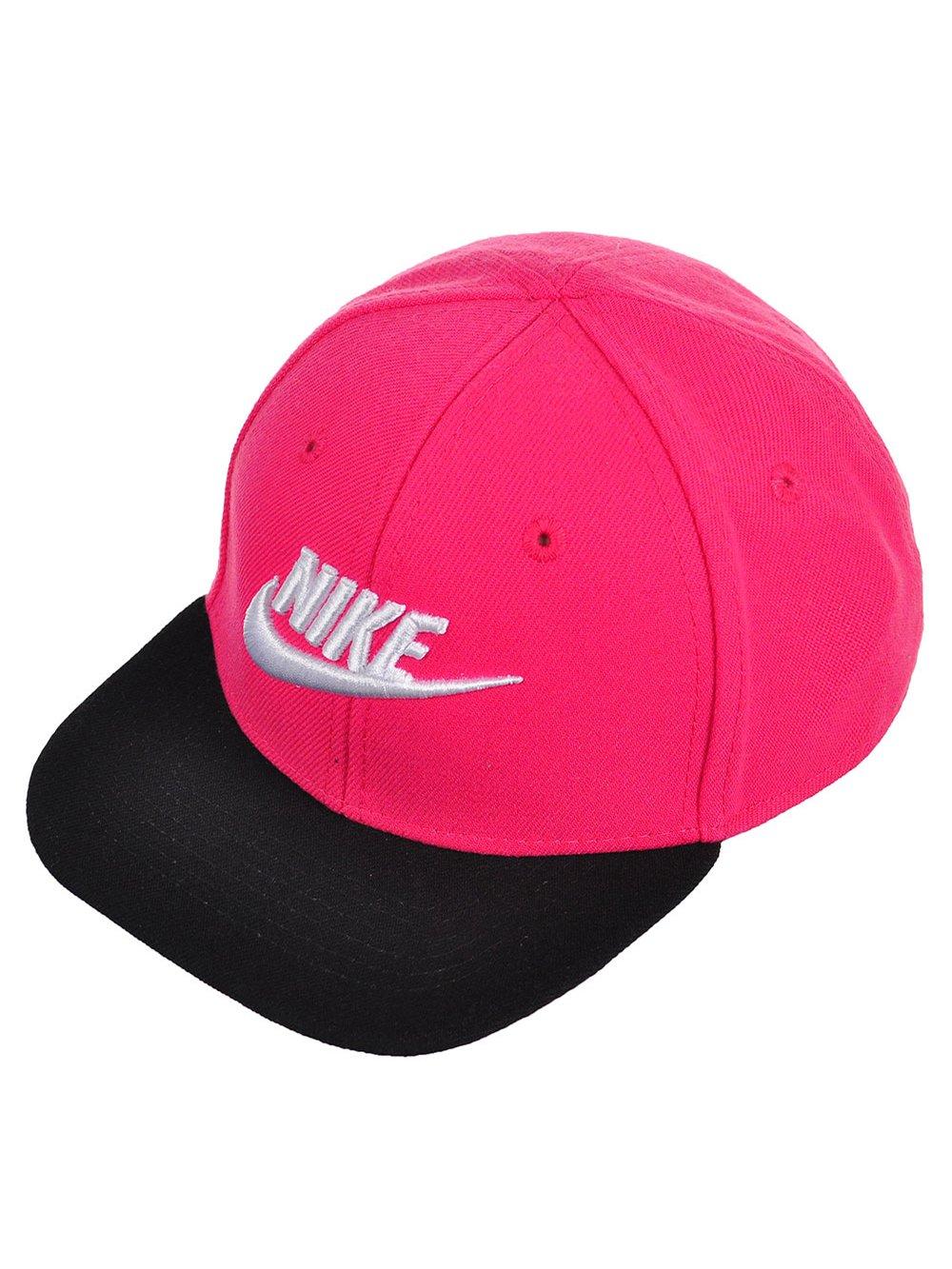 Nike Baby Girls' Snapback Cap - vivid pink/black, 12-24 months