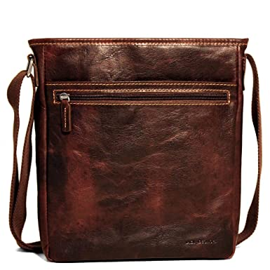 5644acbc215 Image Unavailable. Image not available for. Color  Jack Georges Voyager Leather  Crossbody Bag ...