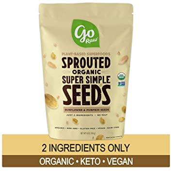 Go Raw Sprouted Superfood Seeds, Pumpkin Seed y Sunflower ...