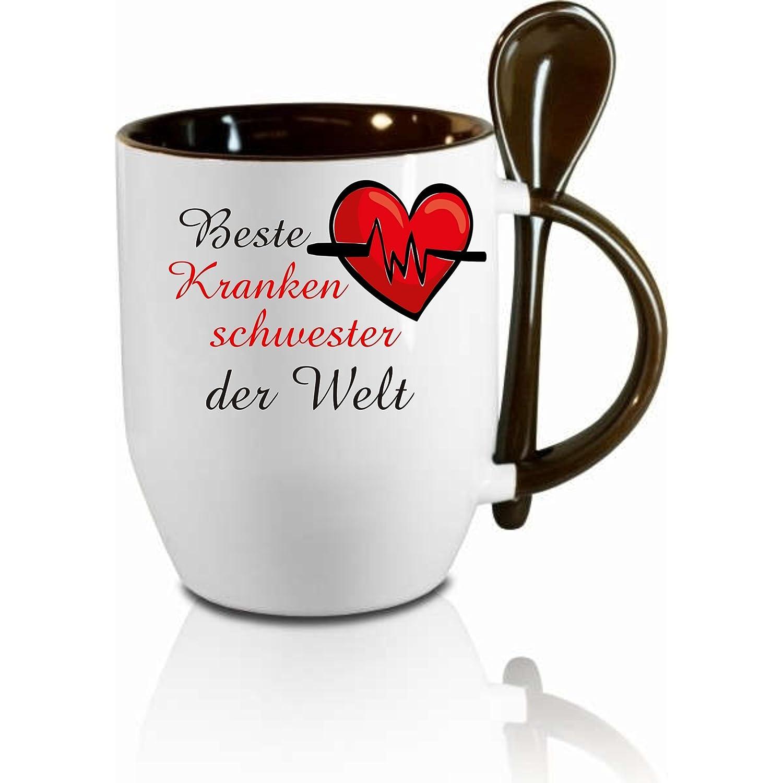 KAFFEE TASSE IN WEISS INNEN GELB SUBLIMATIONSDRUCK