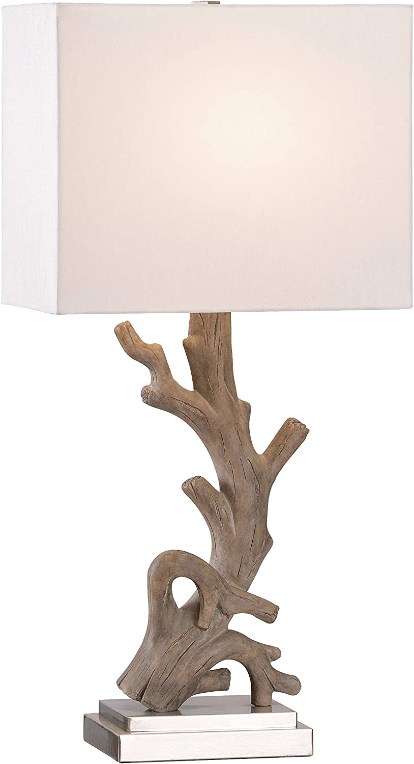 Kenroy Home 21049DW Drift Table Lamp, Driftwood and Brushed Steel