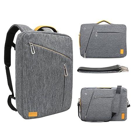 87fdd8ef47 15 Inch Convertible Laptop Backpack - WIWU Multi Functional Travel Rucksack  Water Resistant Knapsack Work School
