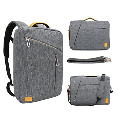15 Inch Convertible Laptop Backpack - WIWU Multi Functional Travel Rucksack  Water Resistant Knapsack Work School 99a23c7eb22cc